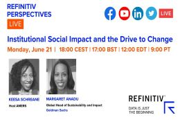 Image promoting Refinitiv Perspectives LIVE: Institutional Social Impact and the Drive to Change