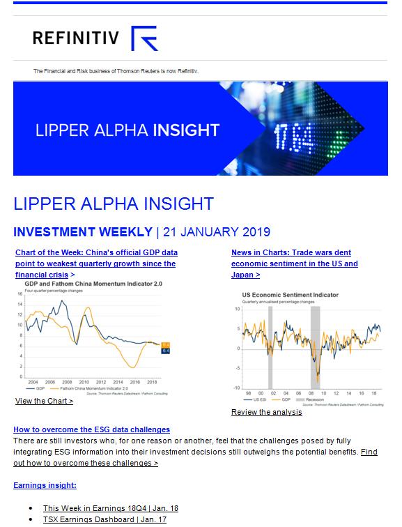 Lipper Alpha Insight Newsletters